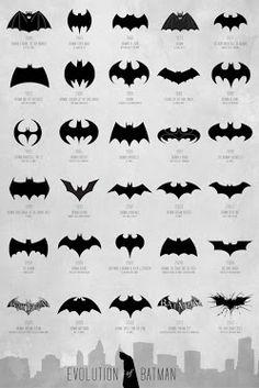 Evolución de iconos de Batman. Google+