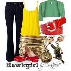 Hawkgirl by disneybychantelle on Polyvore featuring Juicy Couture, VILA, Therapy, Oasis, H&M, Gold Hawk, American Apparel, women's clothing, women's fashion and women