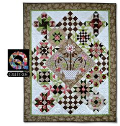 Quiltique Finishing Kit for Patchwork Party. Graceful Moments fabric by Maywood Studio