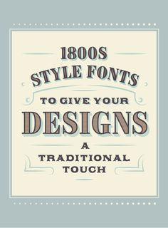 20 Iconic 1800s Style Fonts To Give Your Designs a Traditional Touch