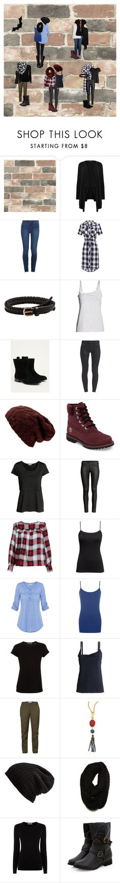 """AW 17/18"" by eryenn-drakkar ❤ liked on Polyvore featuring Wall Pops!, New Look, Paige Denim, MANGO, Torrid, Timberland, H&M, James Perse, WearAll and Vince"