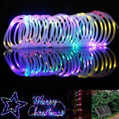 Le 33ft 100 led solar rope lights waterproof outdoor rope lights 50 led waterproof solar rotatable outdoor garden camping led lamp hose lights aloadofball Choice Image