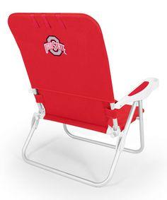 Loving this Ohio State Buckeyes Red Monaco Beach Chair on #zulily! #zulilyfinds