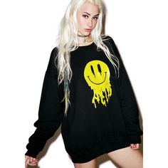 Acid Trippin' Sweatshirt ($40) ❤ liked on Polyvore featuring tops, hoodies, sweatshirts, hoodies and sweaters, hoodie sweatshirts, hooded pullover sweatshirt, oversized hoodie, crewneck sweatshirt and graphic hoodies