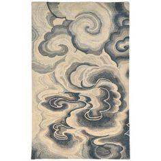 Liora Manne Fuji Hand-Tufted BurlyWood Area Rug Rug Size: Runner x Desenho Tattoo, Fabric Rug, Indoor Rugs, Carpet Design, Contemporary Rugs, Grey Rugs, Carpet Runner, Japanese Art, Cloud