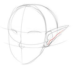 """How to Draw Pointed """"Elf"""" Ears 