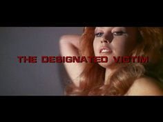 The Designated Victim (1971) movie title Movie Titles, Movie Posters, Title Sequence, Title Card, Feature Film, Redheads, Typography, Youtube, Movies