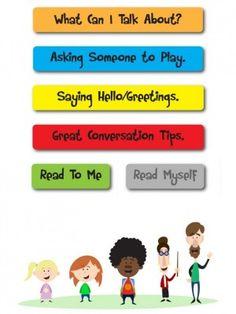 Conversation Social Stories - Touch Autism #appsforautism #touchautism