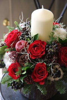 Let us help you set a festive holiday mood throughout your house with rose,apple and candle