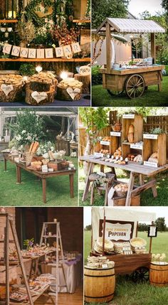 inspiring magnificent rustic wedding food bar and station ideas