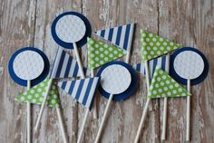Golf Cupcake Toppers bandera cupcake toppers Golf bola