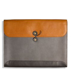 The Bleecker Portfolio In Colorblock Leather from Coach #want