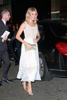 Sienna Miller in Valentino at New York Fashion Week.