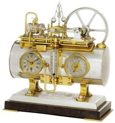 Clock, Thermometer, Barometer, and Steam Engine Automation. France, 1890. Christie's