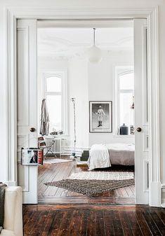 modern swedish apartment bedroom decor / sfgirlbybay