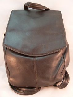 Tignanello Soft Glove Leather Backpack Purse, Black, Lots of Pockets