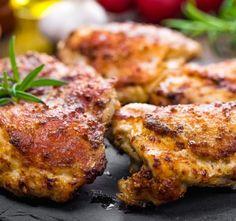 Recept Pikantní kuřecí stehna s česnekovou rýží