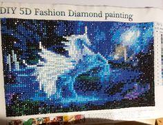 Blue unicorn diamond painting Unicorn, Diamond, Artwork, Blue, Diy, Painting, Fictional Characters, Work Of Art, Bricolage