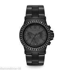 men s black ceramic black dial swarovski crystal accents quartz michael kors men`s dylan black horloge