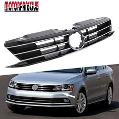 68.93$  Watch here - MOTORFANSCLUB-Car Styling for VW Jetta MK6 2015-2017 Grill Front Upper ABS Radiator Grille Shiny Lacquer Black Car Accessaries  #bestbuy