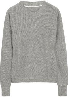 The Elder Statesman Herring Cashmere Sweater in Gray