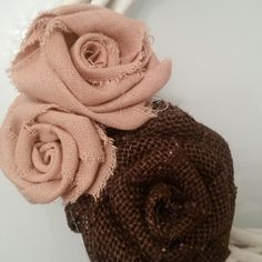 Le1000ideediBamu': Rose in tessuto Shabby Chic - Tutorial #rose #shabbychic