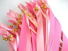 100 Spring Wedding Wands ANY COLOR Two Satin Ribbon by www.katekatenyc.etsy.com, $100.00