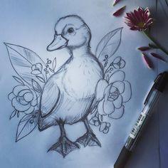 Duck duck #duck #babyduck #sketch #pencil #drawing #essitattoo #naturelovers #tattoodesign #tattoosketch #tattooart #sketch_daily #art #illustration #artwork #instaart #instaartist