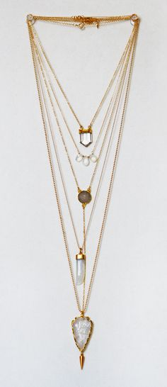 quartz + gold layers | kei jewelry