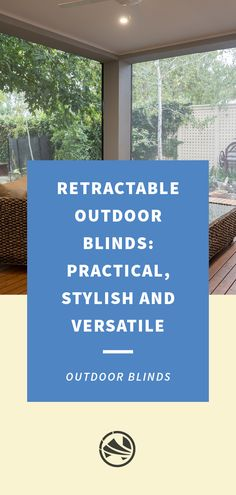 Find out how you can add style, practicality and versatility to your outdoor area with a set of retractable otudoor blinds from Australian Outdoor Living. Outdoor Blinds, Outdoor Living, Outdoor Life, The Great Outdoors, Outdoors, Outdoor Shutters, Bushcraft
