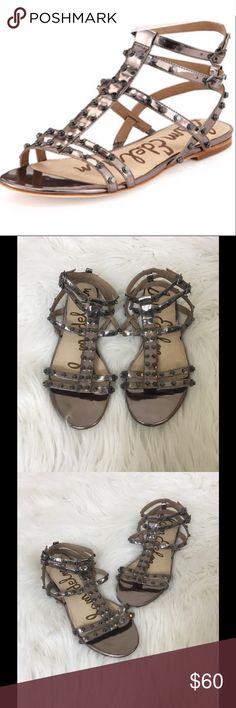 c7f46be24740 Shop Women s Sam Edelman Silver size 9 Sandals at a discounted price at  Poshmark.