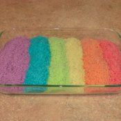 colored rice. alternative to playdough