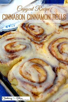 This Cinnabon Cinnamon Rolls Copycat Recipe is a winner! You'll never know thedifference from the real thing. You have to try this delicious homemade Cinnabon Cinnamon Rolls Copycat Recipe. No one will ever know that this is a copycat recipe. Cinammon Rolls, Best Cinnamon Rolls, Pioneer Woman Cinnamon Rolls, Cinnamon Roll Recipe With Active Dry Yeast, Cinnamon Rolls From Biscuits, Recipe For Cinnamon Rolls, Copy Cat Cinnabon Cinnamon Rolls, Frosting For Cinnamon Rolls, Easy Homemade Cinnamon Rolls