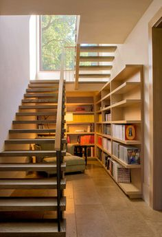 Enterprise contemporary-staircase. Great idea. Neverthess I would add a window downstairs.