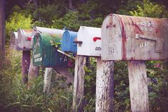 Rustic mailboxes