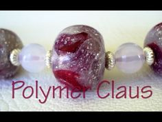 Glass effect beads (polymer clay tutorial - english sub) - YouTube