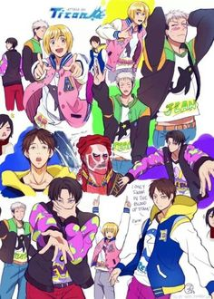 Free & Shingeki no Kyojin crossover ♥