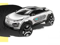Citroen Cactus Design Sketch by Frederic Duvernier Car Design Sketch, Car Sketch, Citroen Cactus, Psa Peugeot Citroen, Citroen Ds, C4 Cactus, Industrial Design Sketch, Ford, Car Drawings