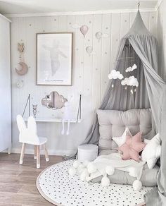 Inspiration pastel girls room ideas, pink and grey girls room design, girls kidsroom, kidsroom decor. Pastel Girls Room, Grey Girls Rooms, Little Girl Rooms, Pink Room, Kids Room For Girls, Kids Bedroom Girls, Girl Toddler Bedroom, Childrens Bedrooms Girls, White Kids Room