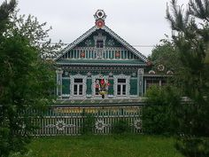 Wooden lace of Sergiev Posad City
