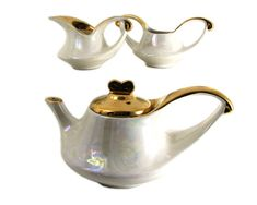 Art Deco Afternoon Tea Service Lusterware Warranted by WhatnotGems