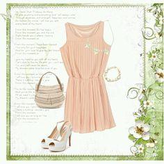#spring #dress #sandals #bag #pastel #tgc #rtw #coordinate #tokyo #iQON #pintarest #mao_pak #O_range o(^-^o)(o^-^)o (Tokyo Opera City Tower)