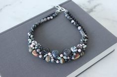 Collier Mer du Nord - chunky semi-precious stone fw13 necklace - by Charlotte Hosten