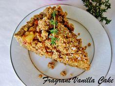 Raw Apple Thyme Crumble Tart Raw Vegan Desserts, Vegan Sweets, Whole Food Recipes, Healthy Recipes, Raw Cake, Buckwheat, Holiday Treats, Tart, Paleo