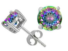 Original Star K(tm) Round 7mm Mystic Topaz Earring Studs in 925 Sterling Silver Star K. $39.99. Guaranteed Authentic from the Star K designer line. Star K. Designs are exclusive and protected by Copyright Laws