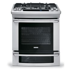 "Electrolux - EW30GS75KS - 30"" Gas Slide-In Electric Range w/ Wave-Touch® Controls - Stainless Steel 