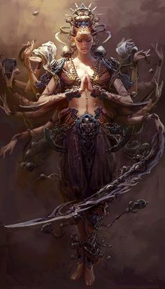 Kali the goddess of time,change and destruction.She Who Conquers Over All…