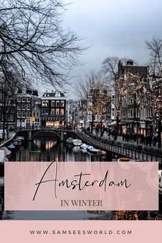 There are a ton of unique events and things to do in Amsterdam's winter months. Such that each month of winter thas its own unique events and things to do, and there are also many winter activities that last for the whole season. Since there is so much diversity in the events throughout the winter months I have separated this post by month so you can see exactly what is going on in Amsterdam during your time of visit. Amsterdam Itinerary, Amsterdam City Guide, Amsterdam Travel, Amsterdam Winter, Amsterdam Things To Do In, Winter Activities, Winter Months, Stuff To Do, To Go