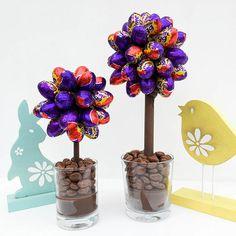 Albero di Pasqua con ovetti di cioccolato