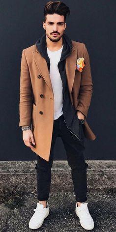 Mariano di vaio tan overcoat - thestylecity - men's fashion &a Tan Overcoat, Mens Fashion Blog, Men's Fashion, Fashion Ideas, Fashion Guide, Boys Fashion Style, Prep Fashion, Fashion Menswear, Fashion Black